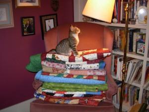 Winnie on quilts