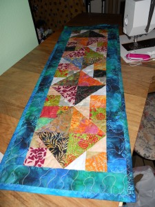 The Promisory Table Runner - formerly known as MQ4 (or was it three?) (A batik IOU)