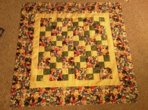 "Baby Quilt with borders...see it's not so ""ducky"" now!"