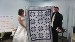 Connie & Jason's Wedding quilt...finished May 4, 2013.