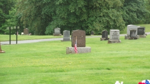 A view of the cemetery.