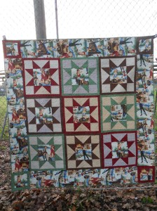 A quilt for my brother...I do love a sawtooth star!