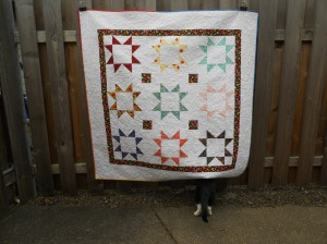 When tragedy struck a very sweet friend, I made this quilt. When her friends added their love and thoughts in fabric pen...the quilt became a group gift!