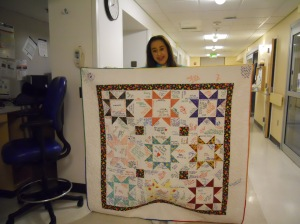 The Autograph Quilt, living up to the name.