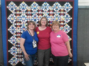 Jennifer from The Quilted Cat, Bonnie Hunter and me!