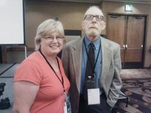 Me with my writing hero, Ivan Doig!