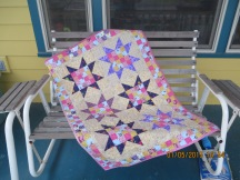 Made with inspiration fabric from guild and donated back to guild.