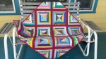 Donor quilt #2, pieced by my cousin with donated blocks