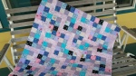 Inspiration fabric baby quilt.
